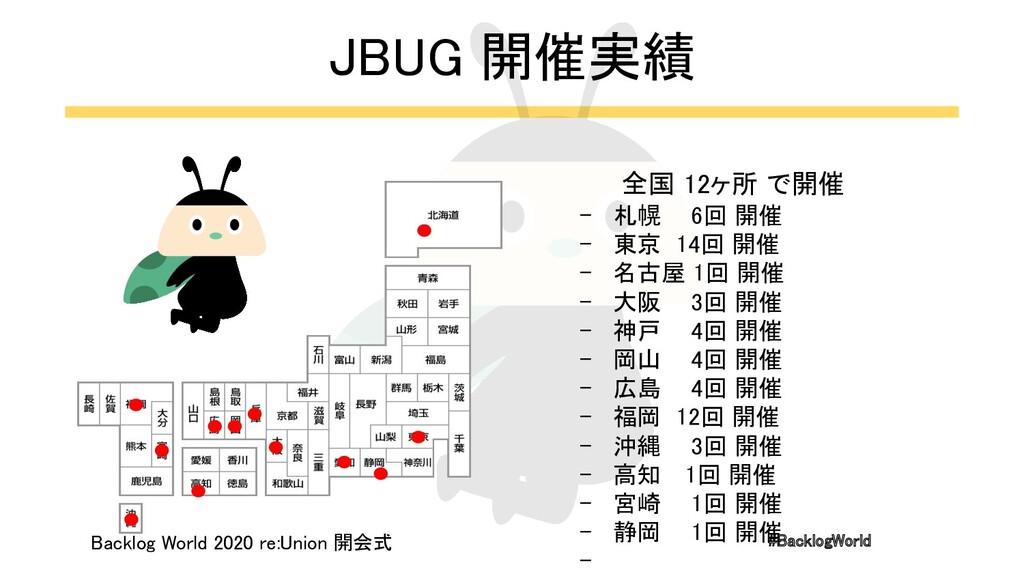 #BacklogWorld 全国 12ヶ所 で開催 - 札幌 6回 開催 - 東京 14...