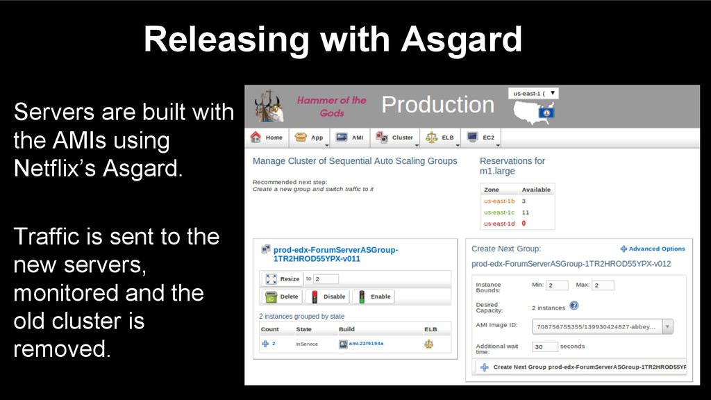 Releasing with Asgard Servers are built with th...