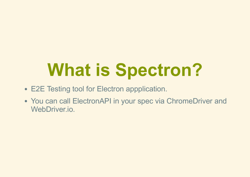 What is Spectron? E2E Testing tool for Electron...