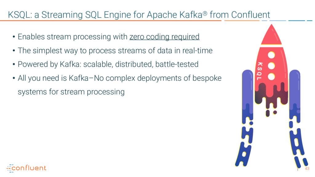 43 KSQL: a Streaming SQL Engine for Apache Kafk...