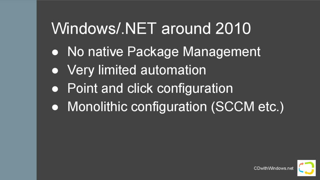 CDwithWindows.net Windows/.NET around 2010 ● No...