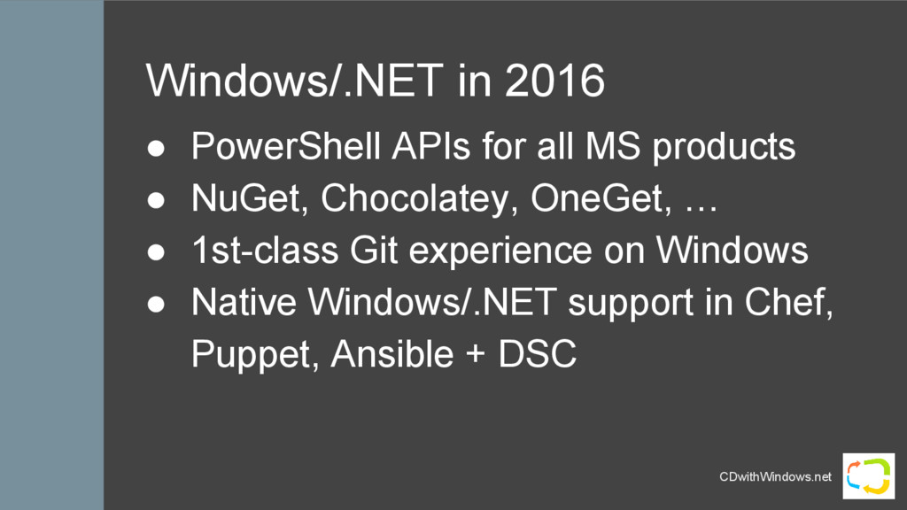 CDwithWindows.net Windows/.NET in 2016 ● PowerS...