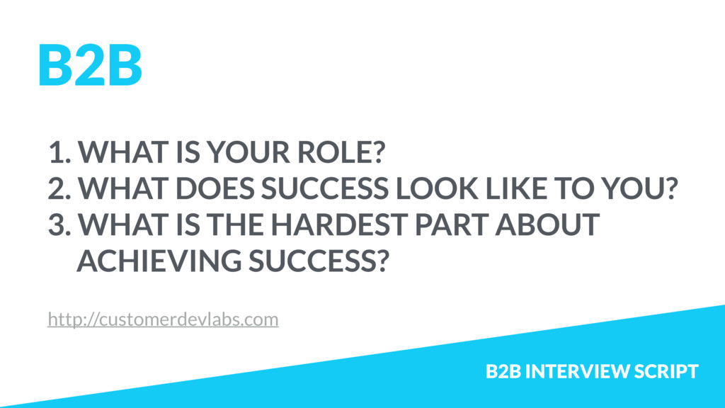 1. WHAT IS YOUR ROLE? 2. WHAT DOES SUCCESS LOOK...