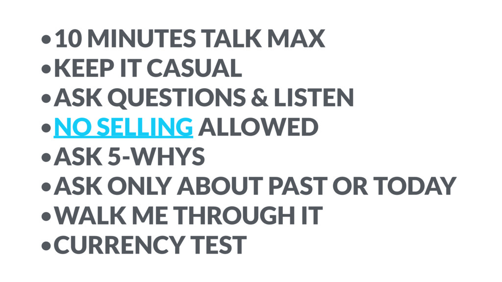 •10 MINUTES TALK MAX •KEEP IT CASUAL •ASK QUEST...