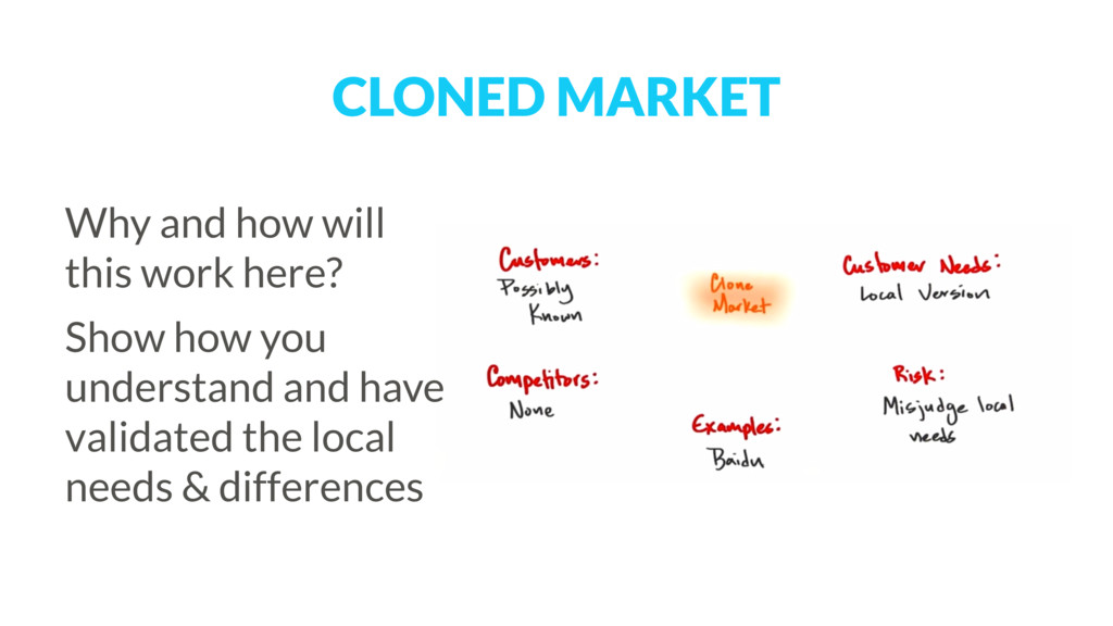 CLONED MARKET Why and how will this work here? ...