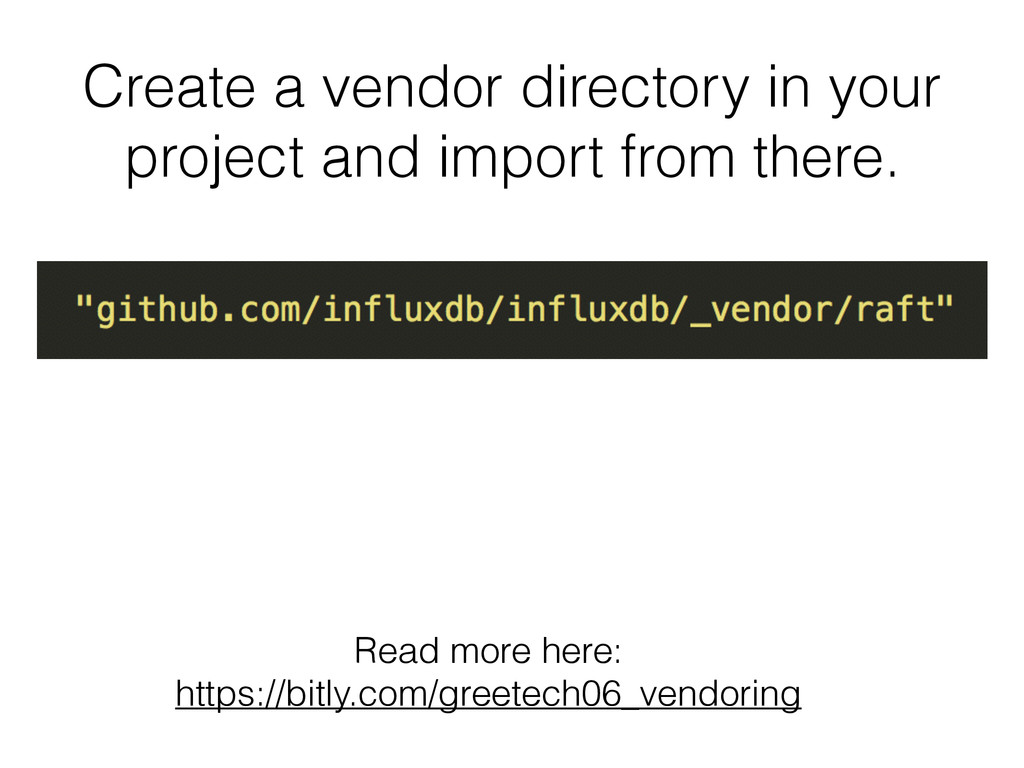 Create a vendor directory in your project and i...
