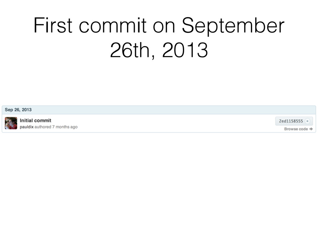 First commit on September 26th, 2013