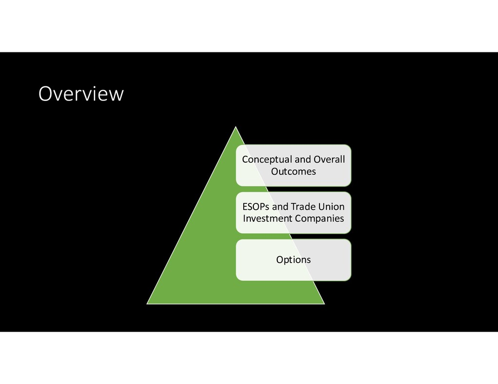 Overview Conceptual and Overall Outcomes ESOPs ...
