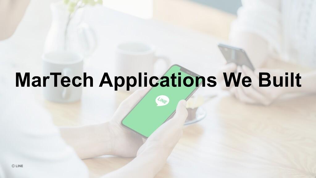 MarTech Applications We Built