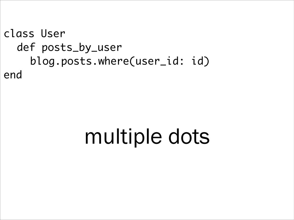 class User def posts_by_user blog.posts.where(u...