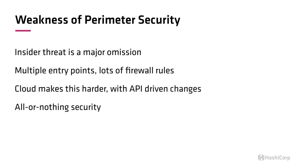 Weakness of Perimeter Security Insider threat i...