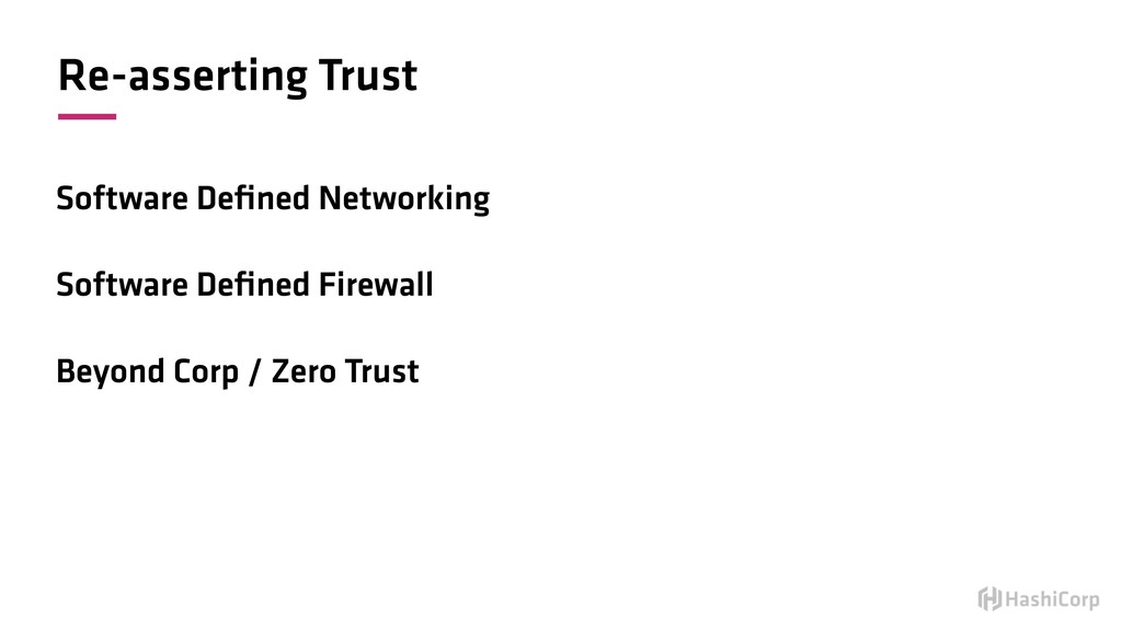 Re-asserting Trust Software Defined Networking S...