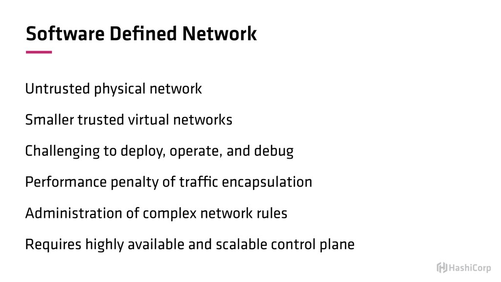 Software Defined Network Untrusted physical netw...