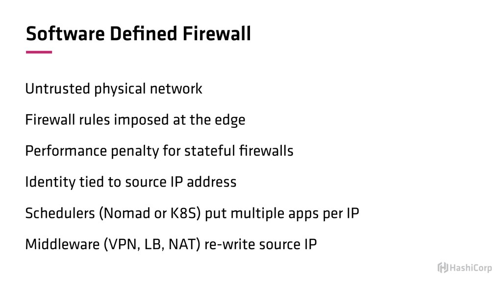 Software Defined Firewall Untrusted physical net...