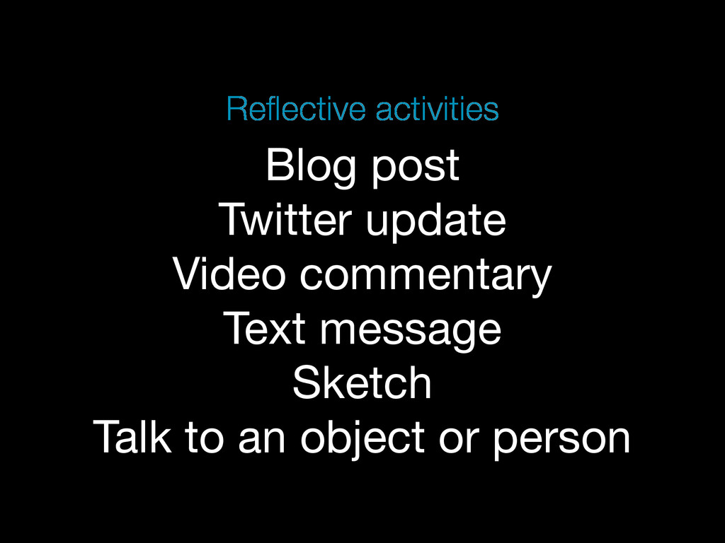 Blog post Twitter update Video commentary Text ...
