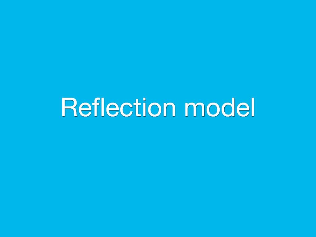 Reflection model