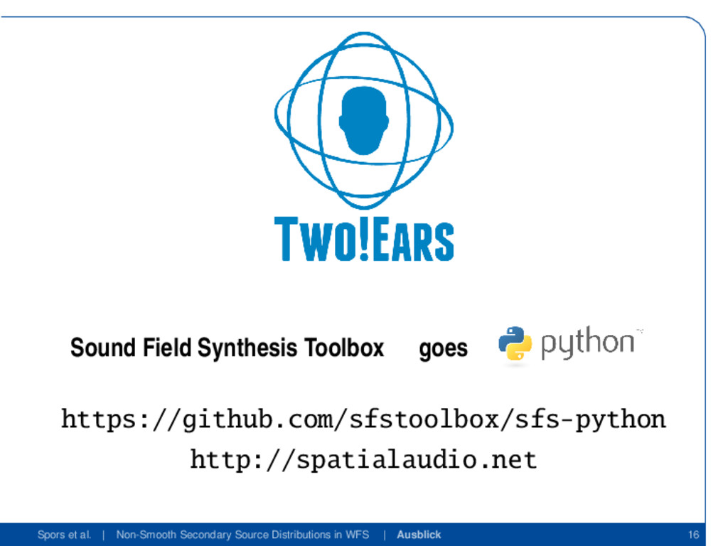 Sound Field Synthesis Toolbox goes https://gith...