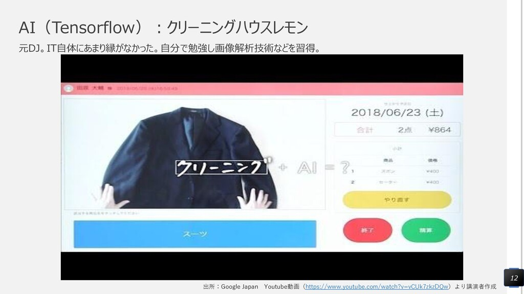 AI(Tensorflow):クリーニングハウスレモン 元DJ。IT自体にあまり縁がなかった。...