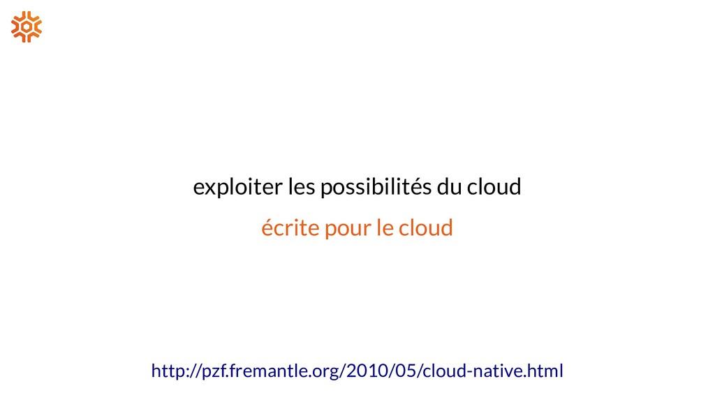 exploiter les possibilités du cloud écrite pour...