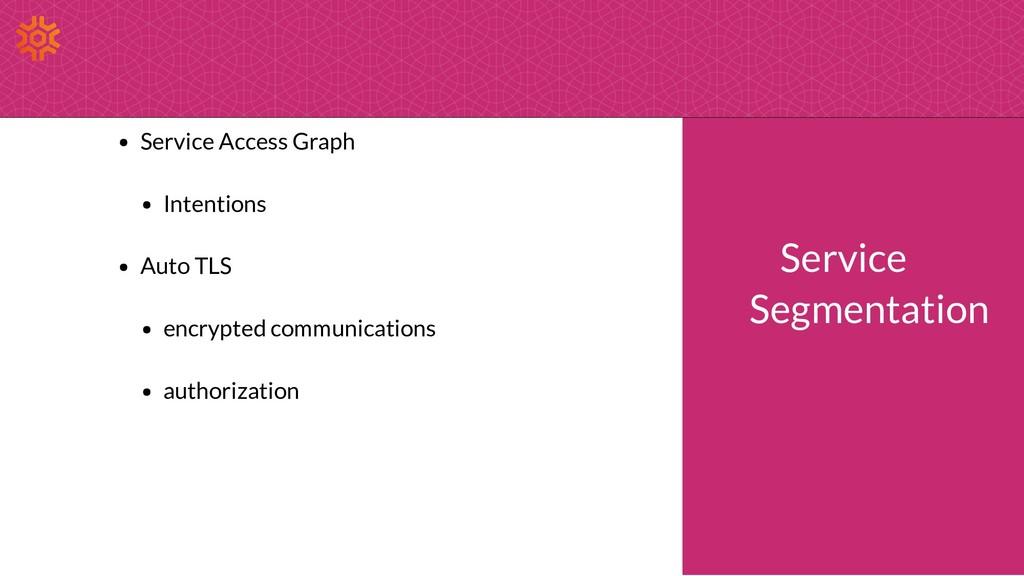 Service Access Graph Intentions Auto TLS encryp...