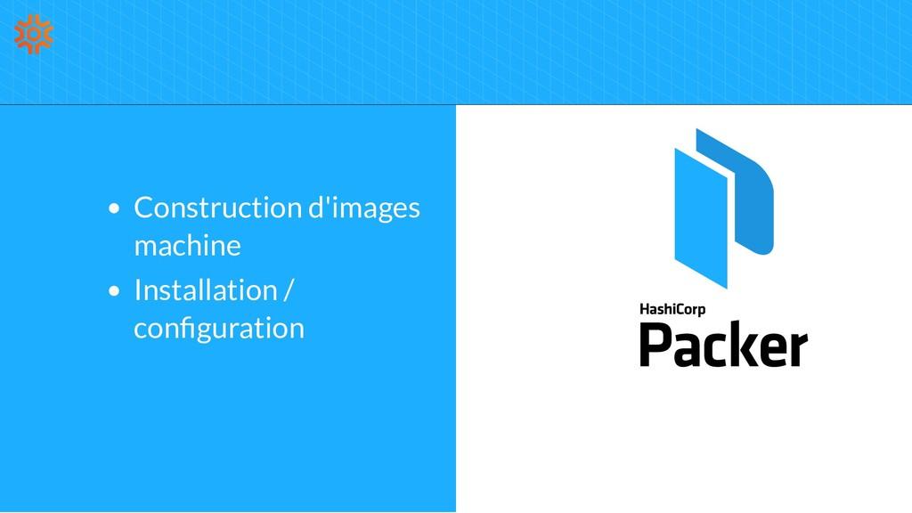Construction d'images machine Installation / co...