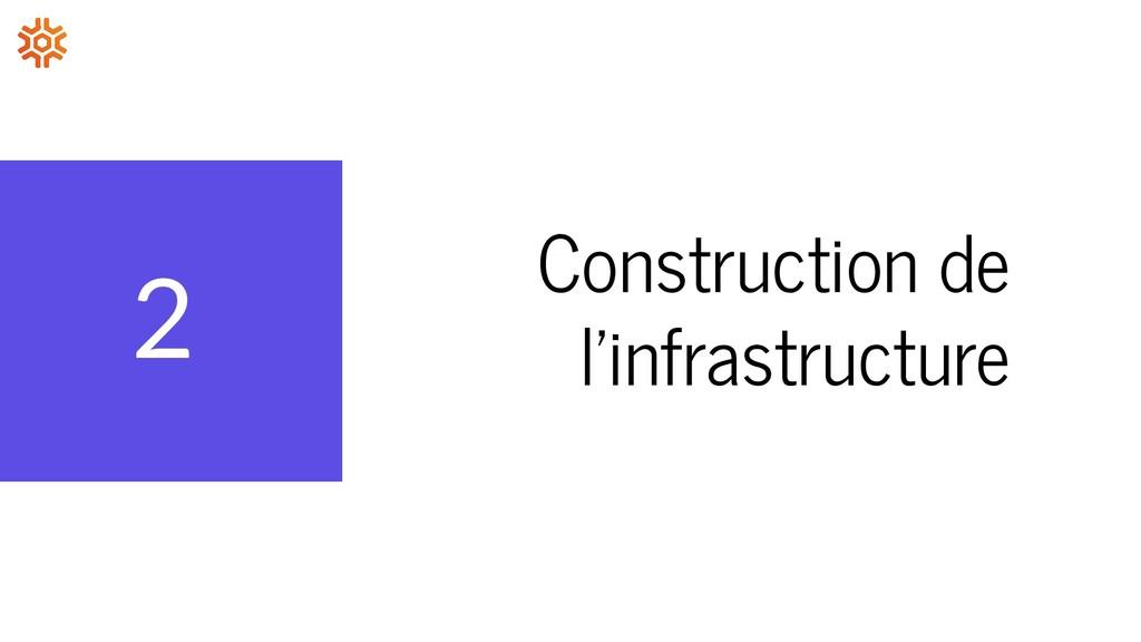 2 Construction de l'infrastructure