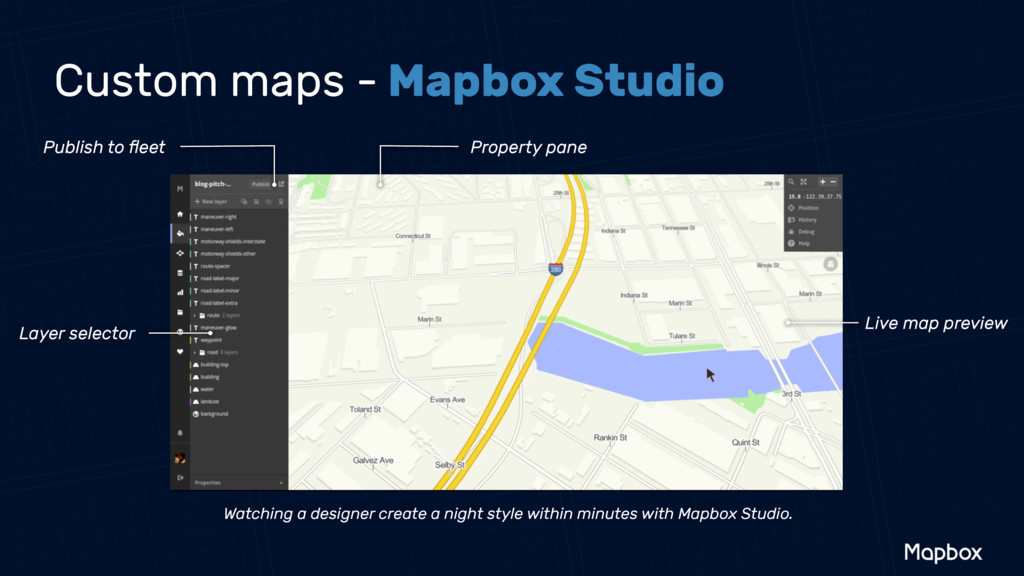 Publish to fleet Property pane Live map preview ...