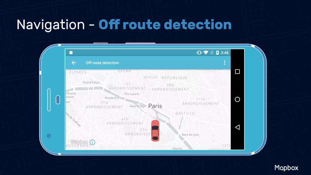 Navigation - Off route detection