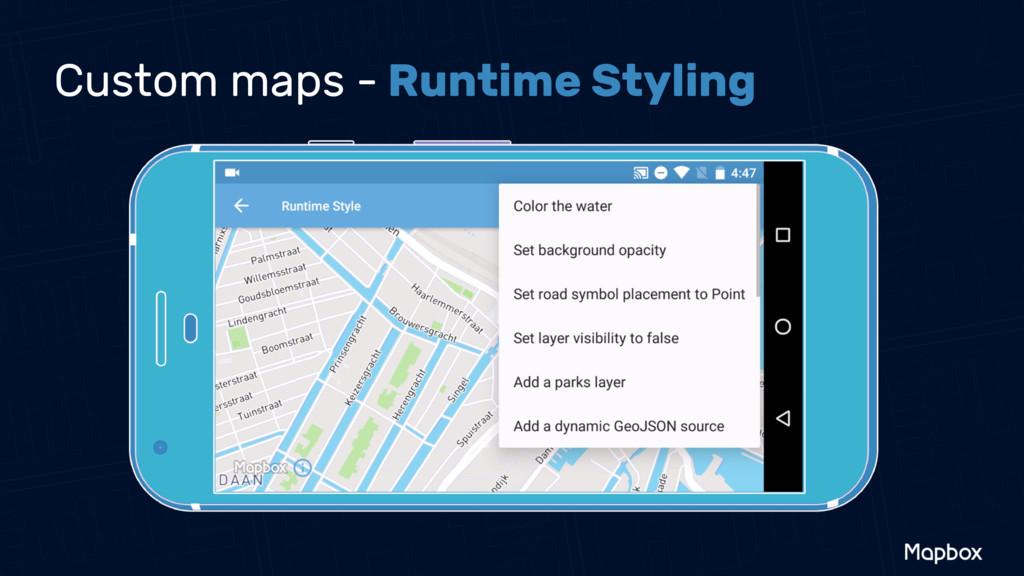 Custom maps - Runtime Styling