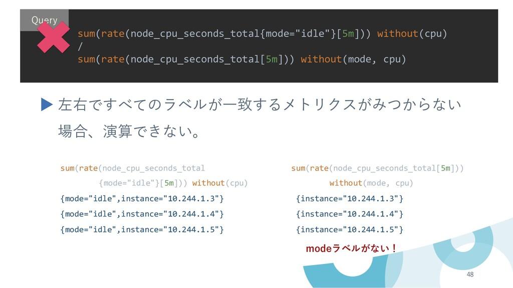 48 sum(rate(node_cpu_seconds_total sum(rate(nod...