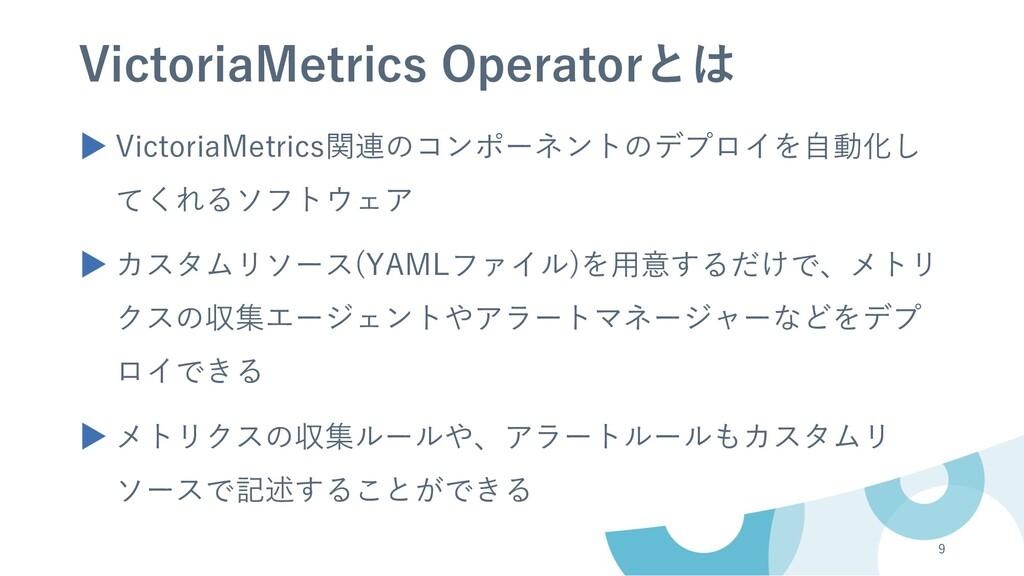 VictoriaMetrics Operatorとは ▶ VictoriaMetrics関連の...