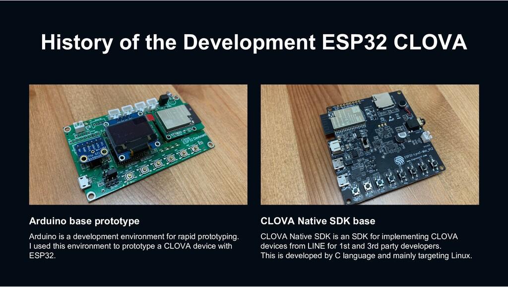 History of the Development ESP32 CLOVA CLOVA Na...