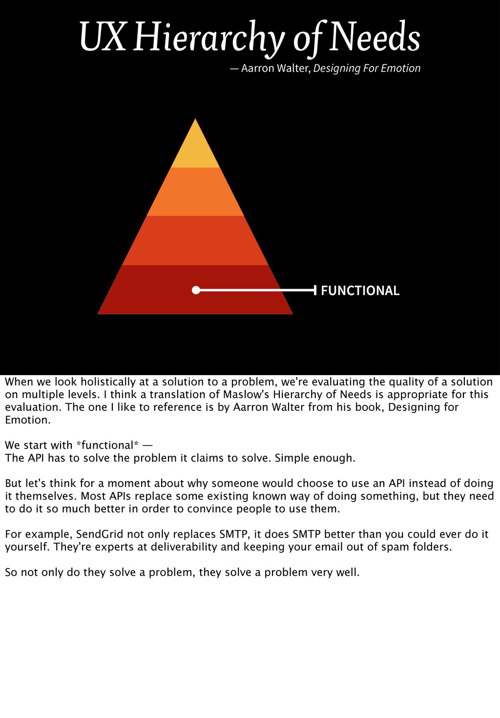 FUNCTIONAL UX Hierarchy of Needs — Aarron Walte...