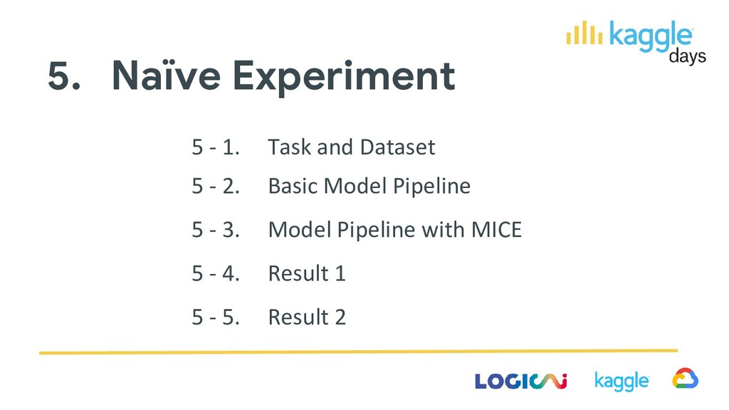 5. Naïve Experiment 5 - 1. Task and Dataset 5 -...