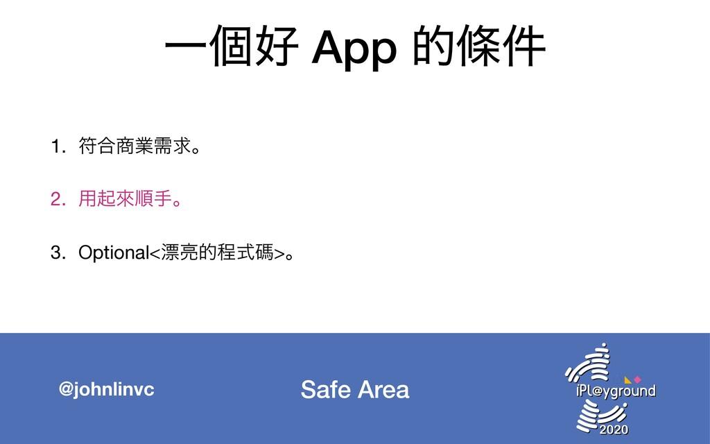 Safe Area @johnlinvc Ұݸ App తᑍ݅ 1. ූ߹ۀधٻɻ  2....