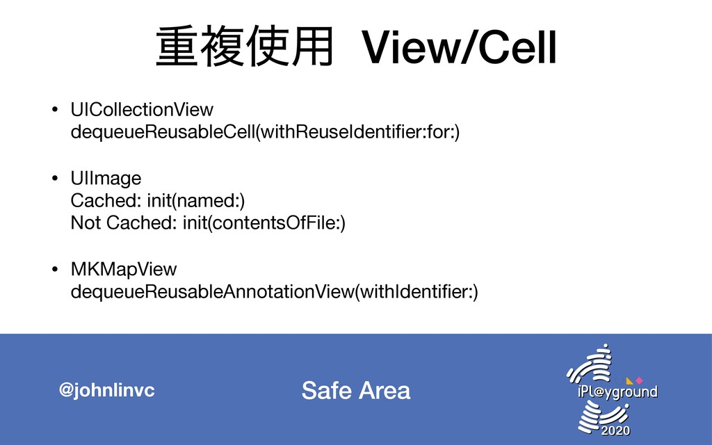 Safe Area @johnlinvc ॏෳ༻ View/Cell • UICollect...