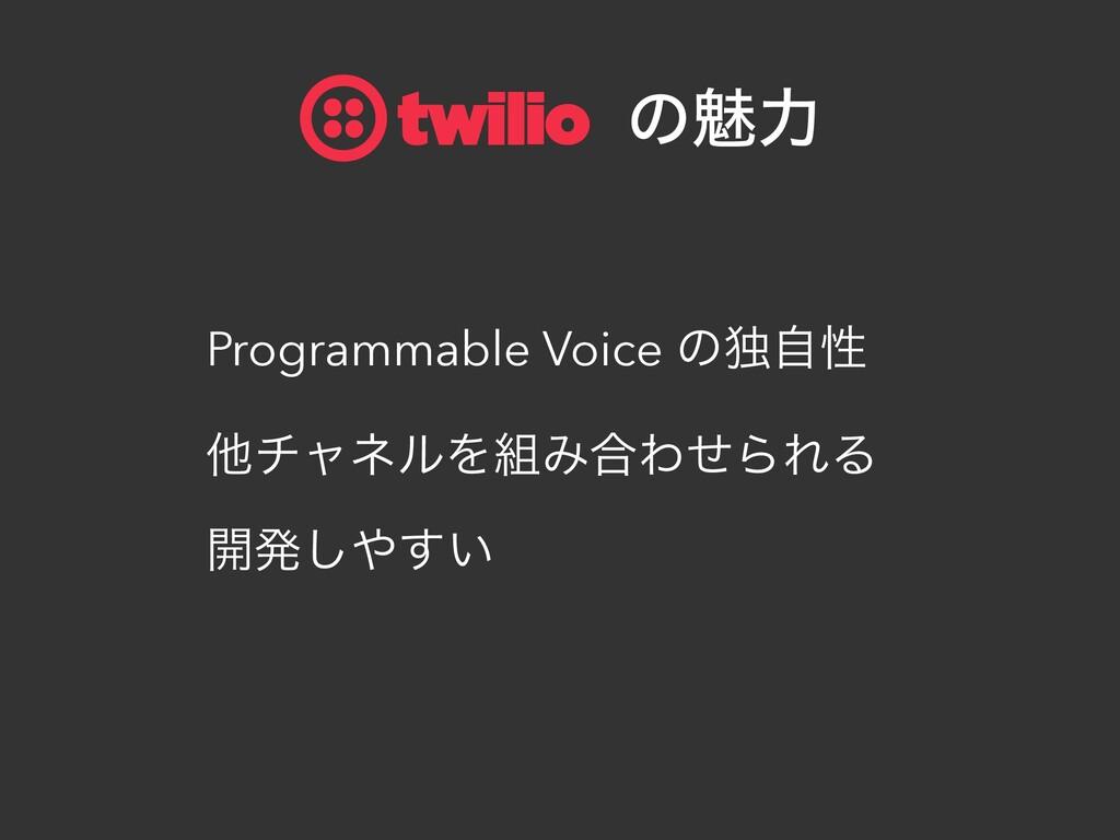 Programmable Voice ͷಠࣗੑ ଞνϟωϧΛΈ߹ΘͤΒΕΔ ։ൃ͍͢͠ ɹ...