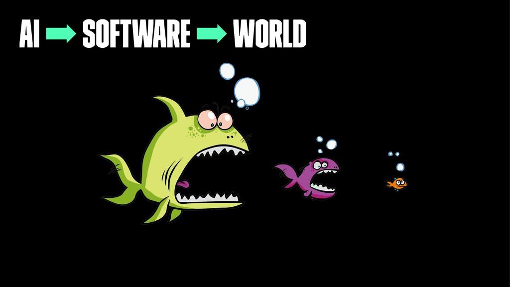 AI ➡ Software ➡ World