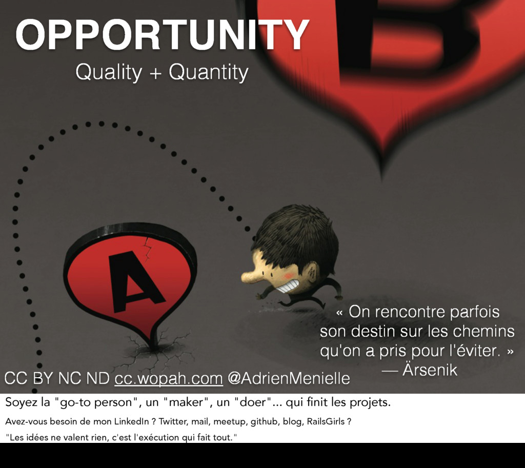 OPPORTUNITY Quality + Quantity « On rencontre p...