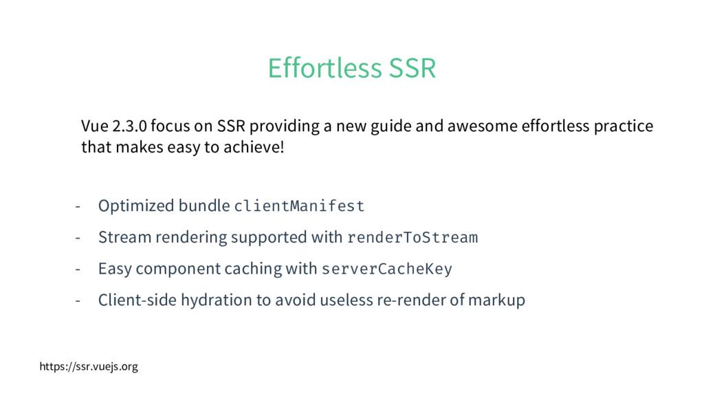 Effortless SSR - Optimized bundle clientManifes...