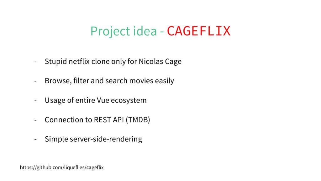 Project idea - CAGEFLIX - Stupid netflix clone ...