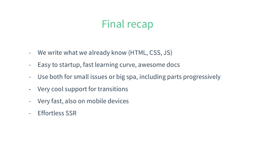 Final recap - We write what we already know (HT...