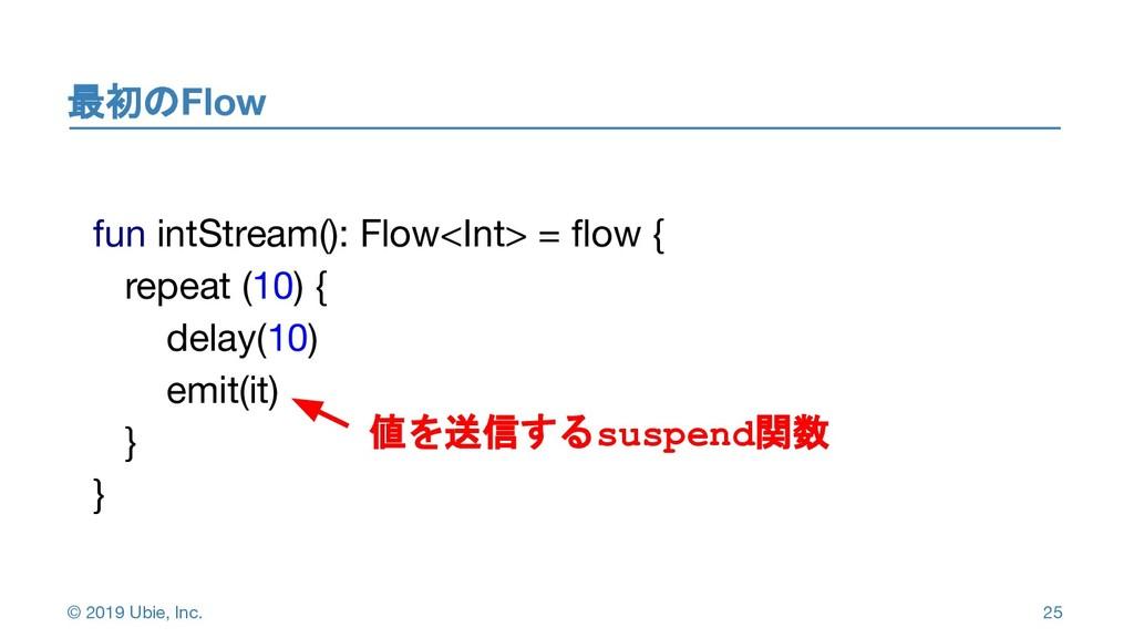 © 2019 Ubie, Inc. 最初のFlow 2 5 25 fun intStream(...