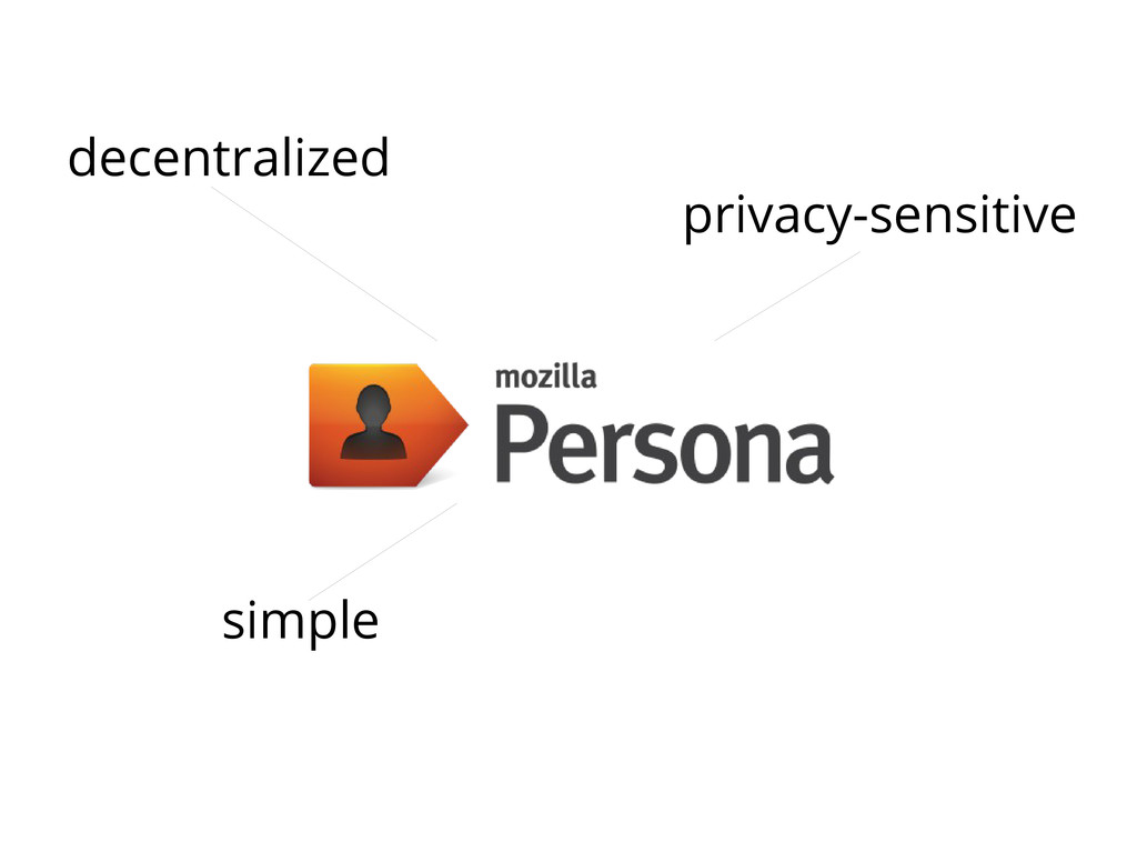 privacy-sensitive simple decentralized