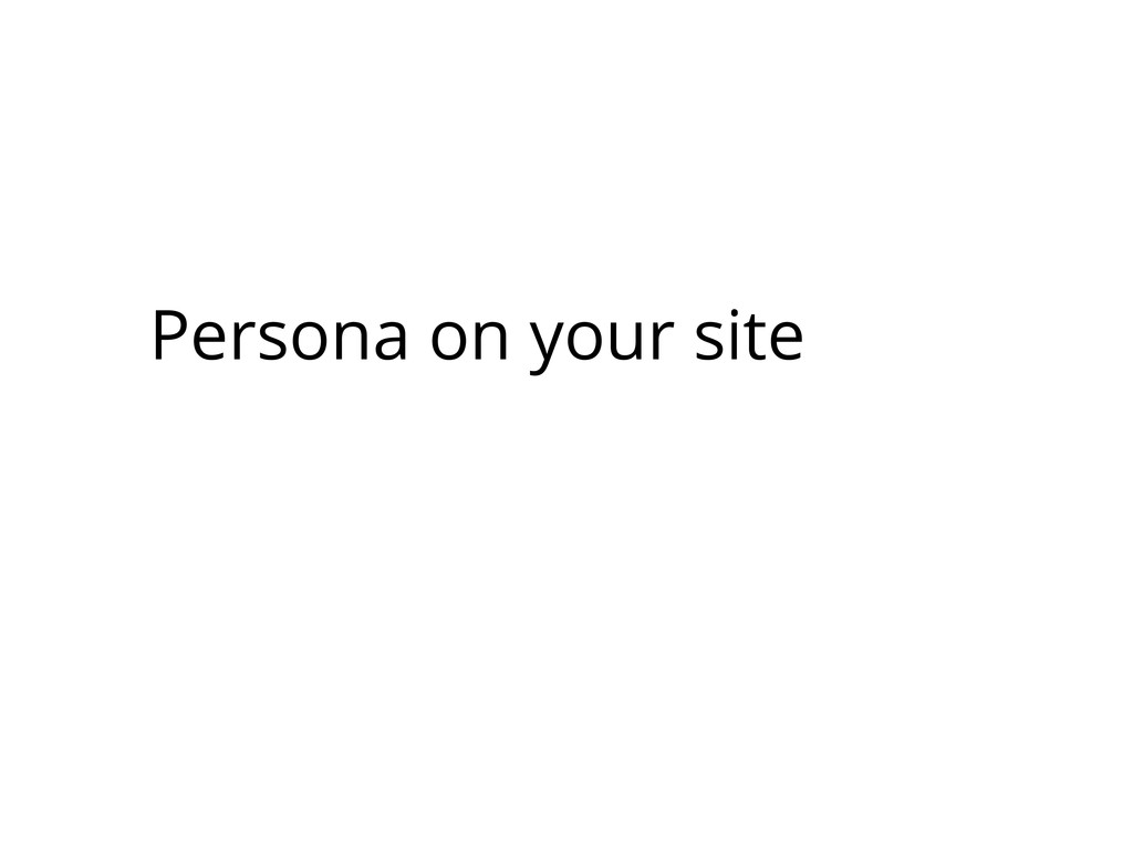 Persona on your site