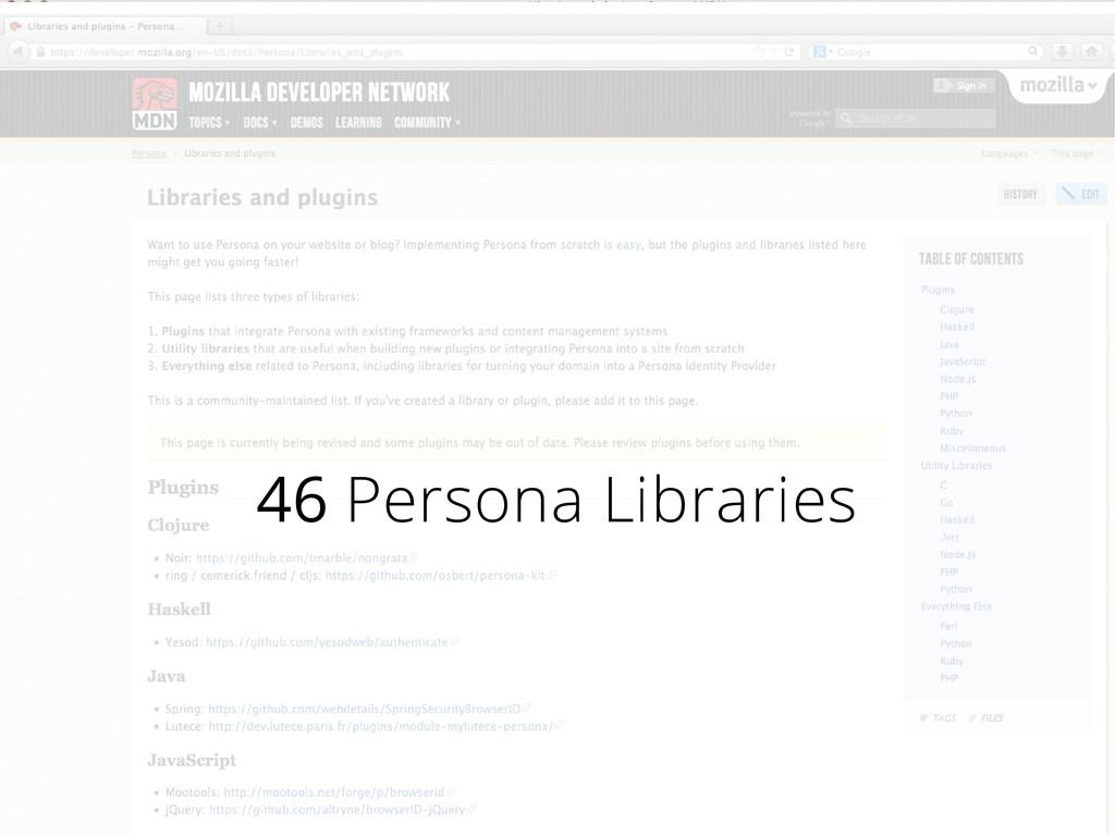 46 Persona Libraries