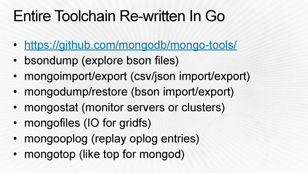 Entire Toolchain Re-written In Go • https://git...