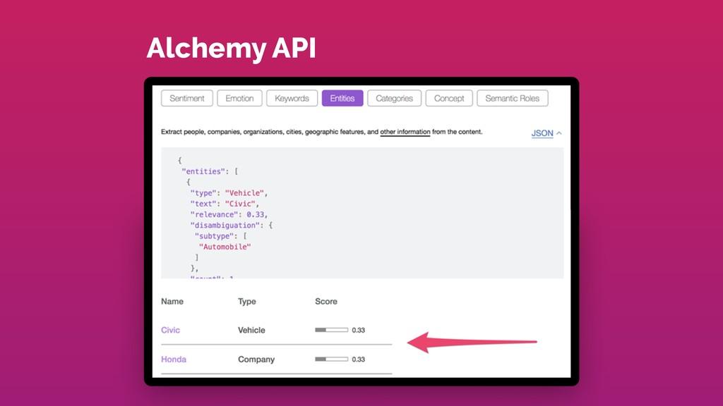 Alchemy API
