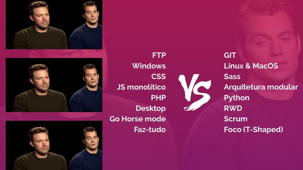 GIT Linux & MacOS Sass Arquitetura modular Pyth...