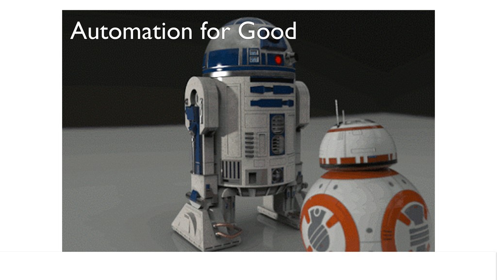 Automation for Good